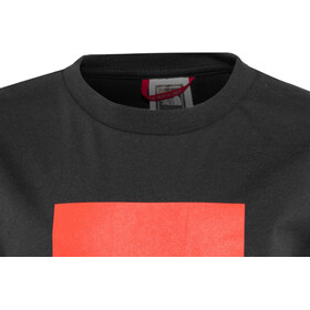 The North Face Box SS Tee Børn, tnf black/fiery red